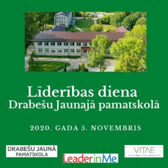 Līderības diena tiešsaistē Drabešu Jaunajā pamatskolā